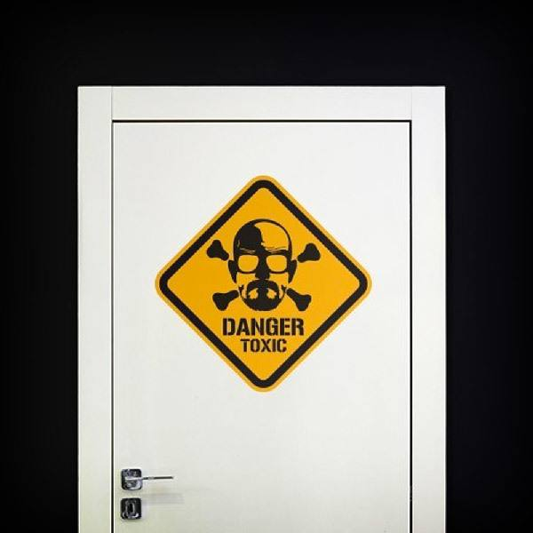 Wall Stickers: Heisenberg Danger Toxic Color