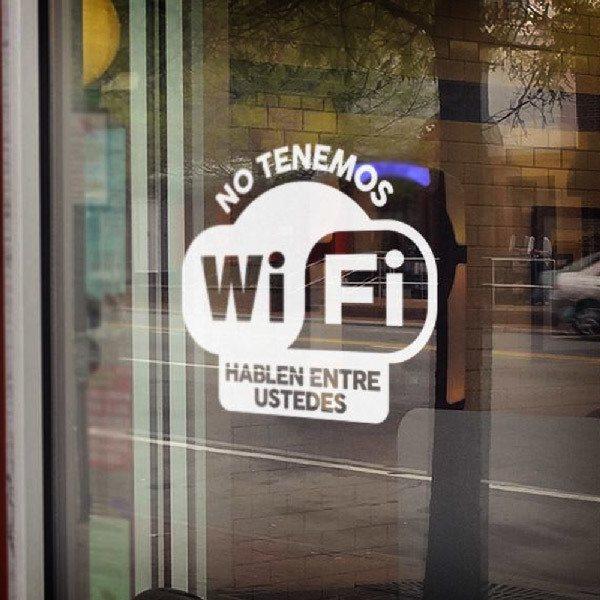 Wall Stickers: No tenemos wifi hablen entre ustedes