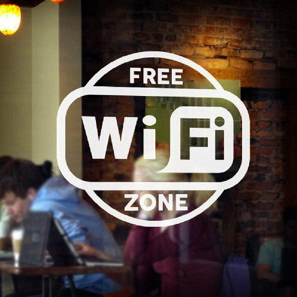 Wall Stickers: Free Wifi Zone