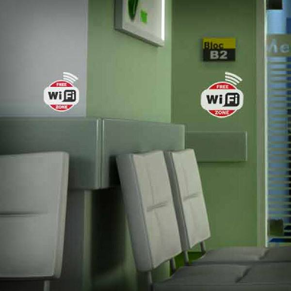 Wall Stickers: Free Wifi Zone - Pack 3 stickers