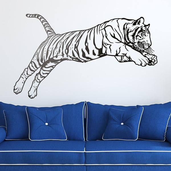 Wall Stickers: Bengal Tiger jump
