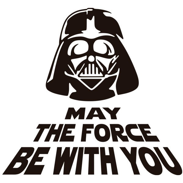 May The Fourth Be With You Clip Art: Bathroom Wall Sticker May The Force Be With You