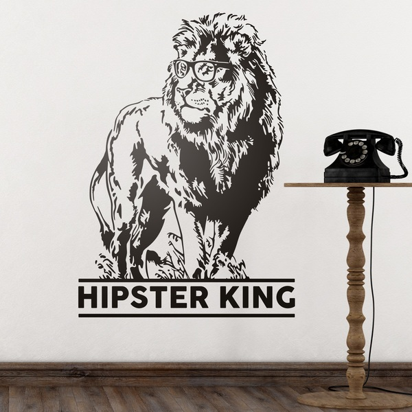 Wall Stickers: Hipster King