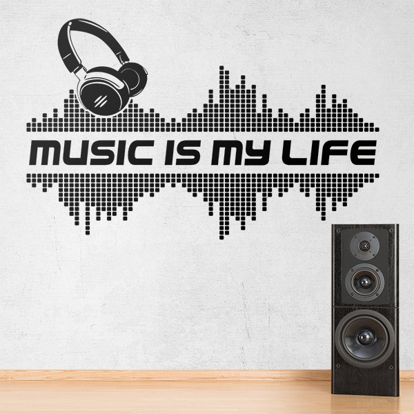 Wall Stickers: Music is my life