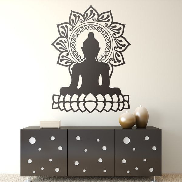Wall Stickers: Buddha and lotus flower