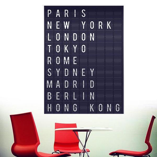 Wall Stickers: Airport cities panel