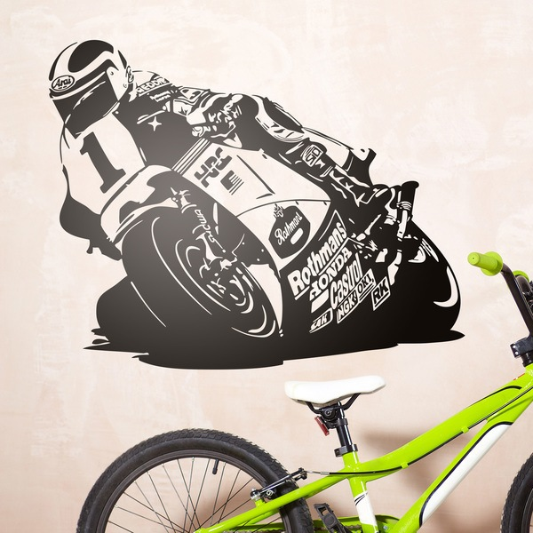 Wall Stickers: Racing Motorcycle