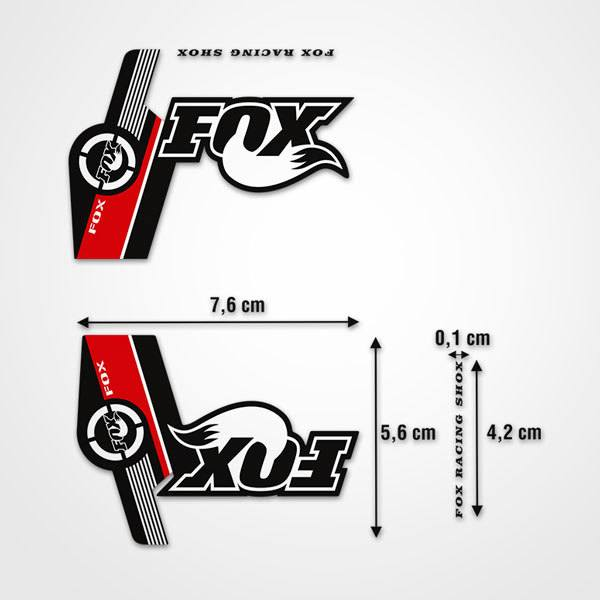 Car and Motorbike Stickers: Stickers Fox Racing Shox forks Mountain Bike
