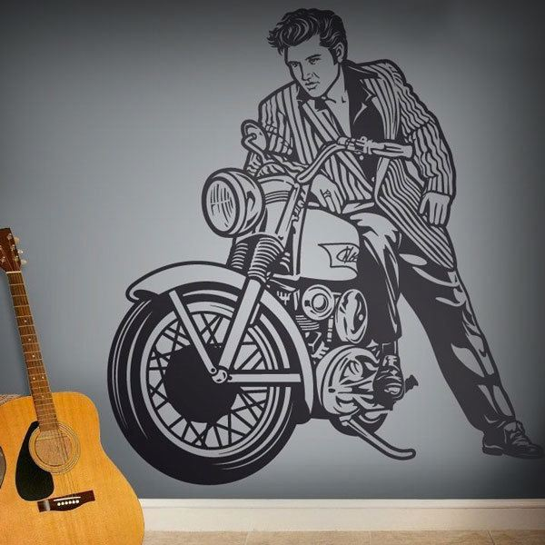 Wall Stickers: Elvis Presley and motorcycle