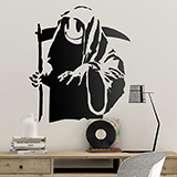 Wall Stickers: Banksy Happy Grim Reaper