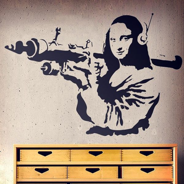 Wall Stickers: Gioconda Terrorist Banksy