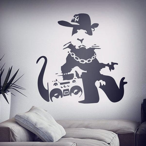 Wall Stickers: Banksy NYC Gangster Rat