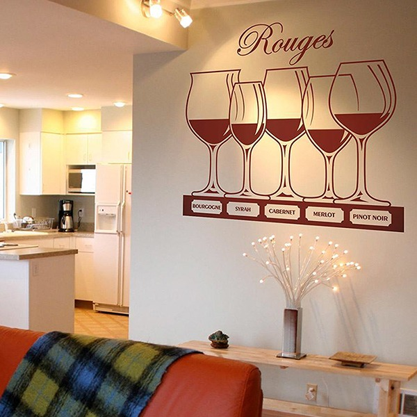 Wall Stickers: Types of red wine