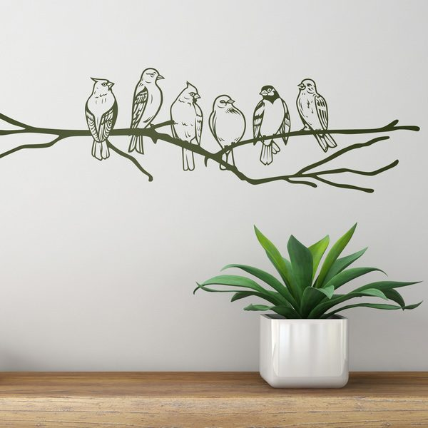 Wall Stickers: Birds on branch