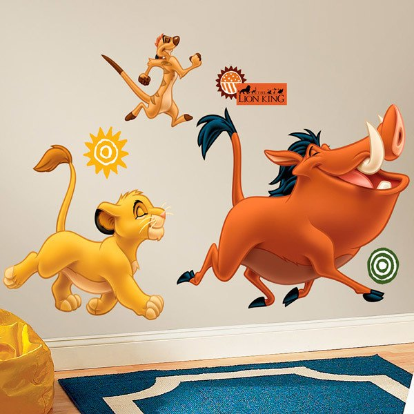 Stickers for Kids: Simba, Timon and Pumba