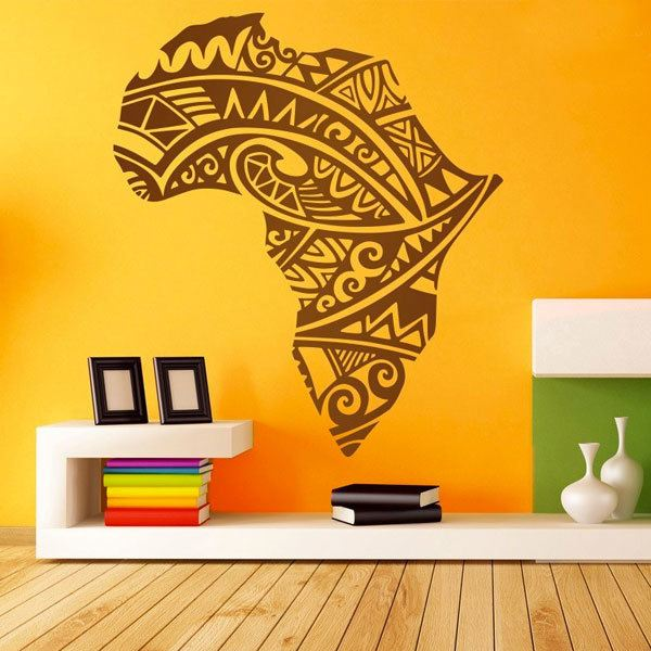 Wall Stickers: Africa Silhouette tribal tattoo