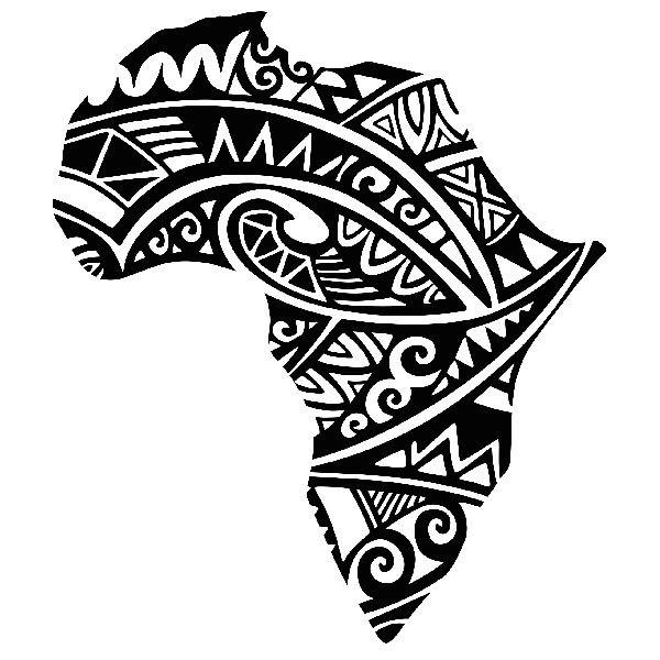 Africa Silhouette Tribal Tattoo