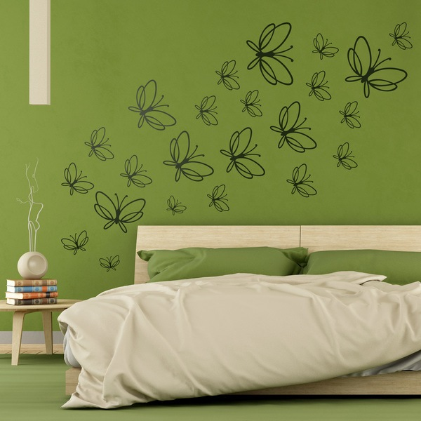 Wall Stickers: Kit 23 Butterflies Noltea