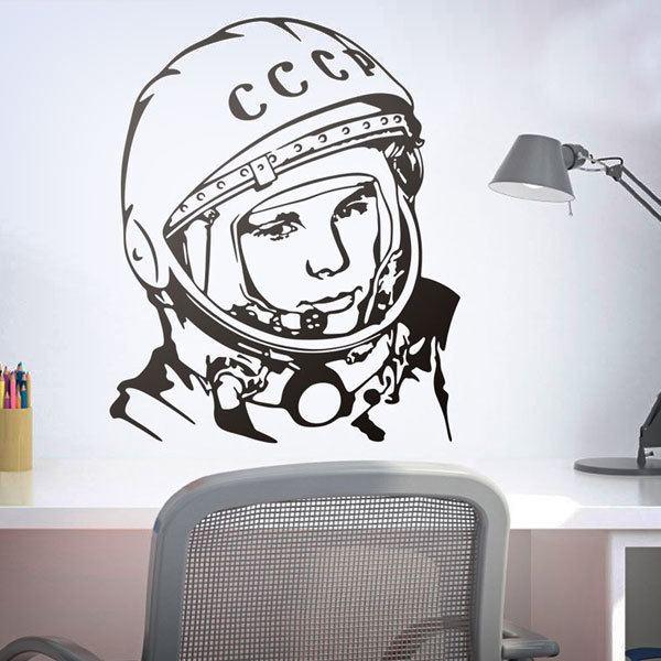 Wall Stickers: Astronaut Yuri Gagarin