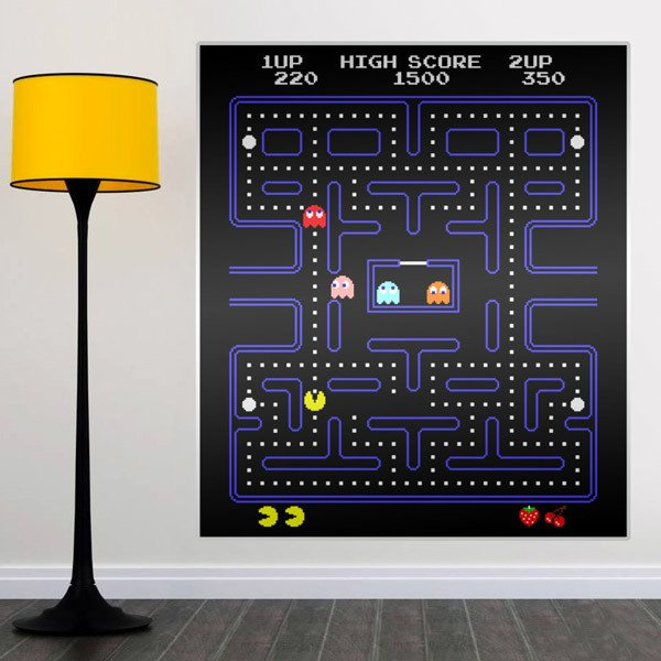 Wall Stickers: Pac-Man Arcade Game Color