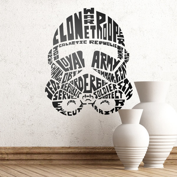 Wall Stickers: Typographic Stormtrooper