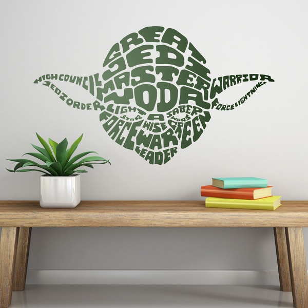 Wall Stickers: Typographic Yoda
