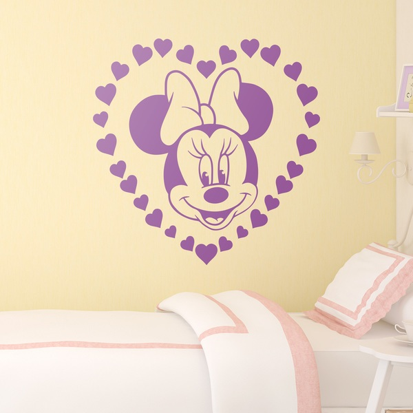 Stickers for Kids: Minnie Mouse and hearts