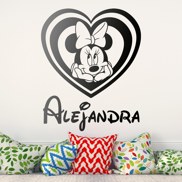 Stickers for Kids: Named Minnie Mouse Heart