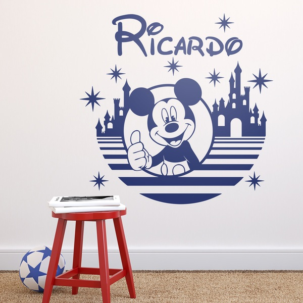 Stickers for Kids: Mickey Mouse, castle and stars