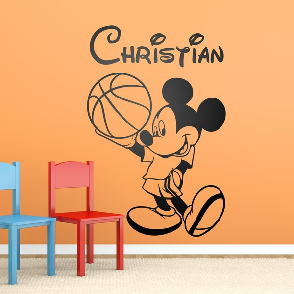 Stickers for Kids: Mickey Mouse Basketball 1