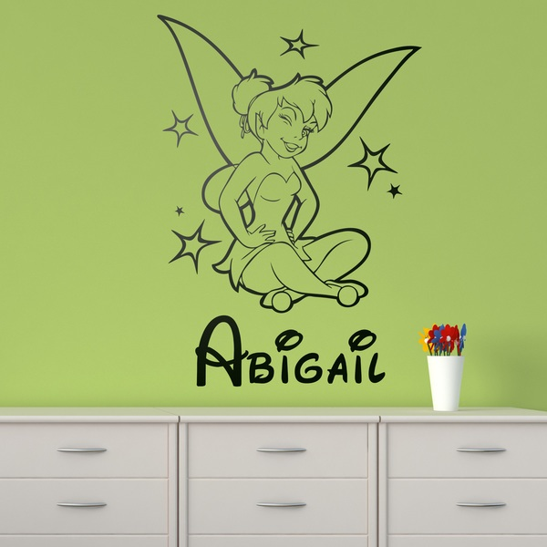 Stickers for Kids: Tinkerbell and name 0