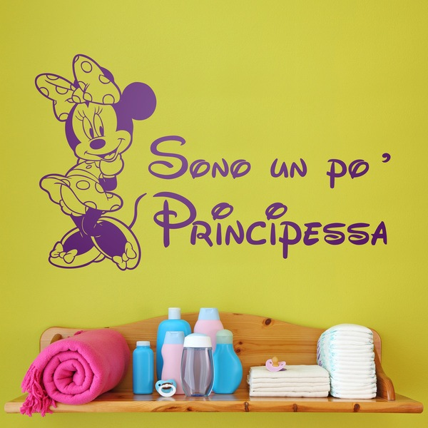 Stickers for Kids: Minnie Sono un po principessa
