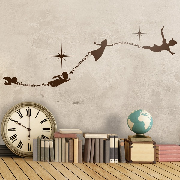 Stickers for Kids: Typographyc Peter Pan En
