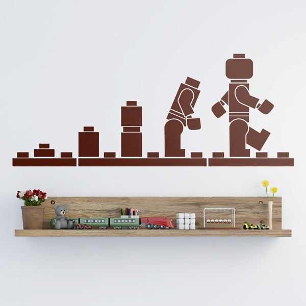 Stickers for Kids: Evolution Lego Figures