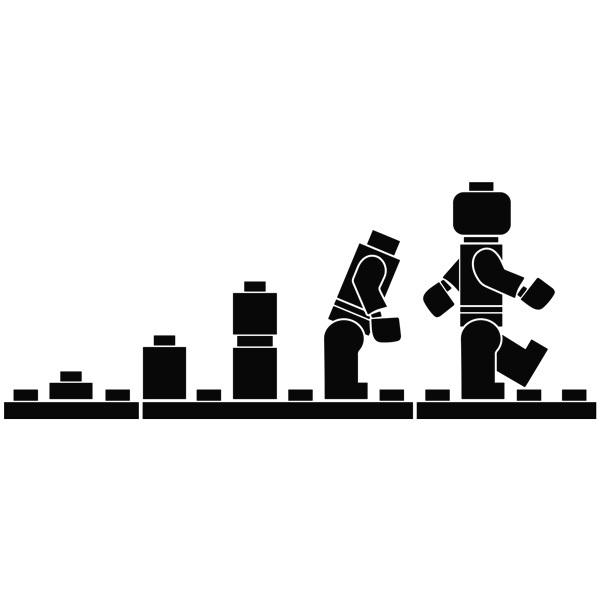 Stickers for Kids: Evolution Lego Figures