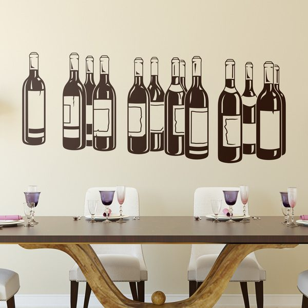 Wall Stickers: Bottles of red wine 0