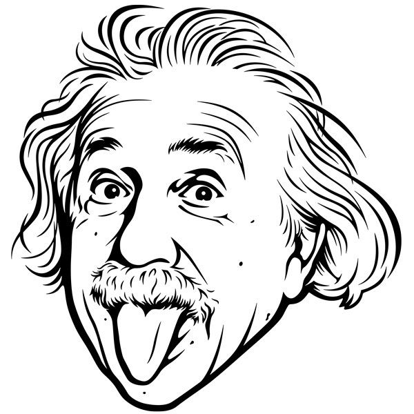 Wall Stickers: Albert Einstein