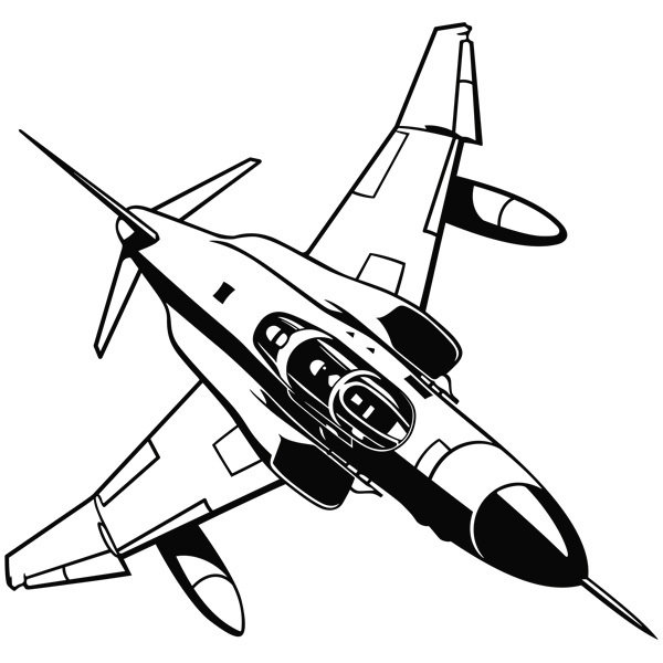 Wall Stickers: Military jet aircraft