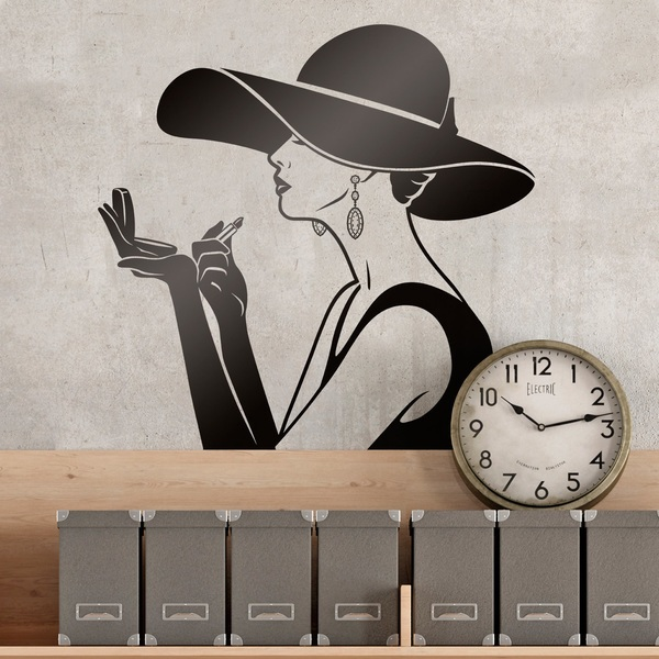 Wall Stickers: Elegant lady makeup