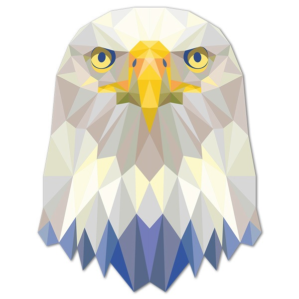 Wall Stickers: Eagle head origami