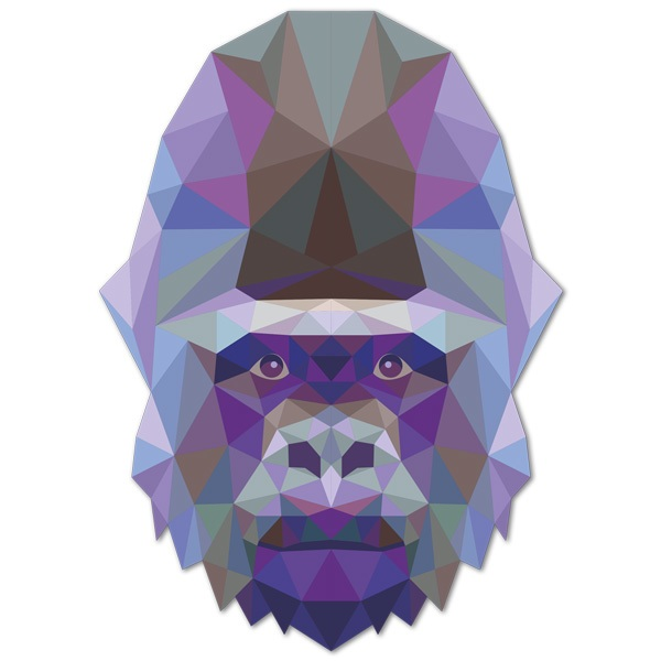 Wall Stickers: Gorilla head origami
