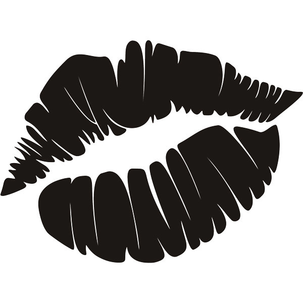 Wall Stickers: Footprint lips