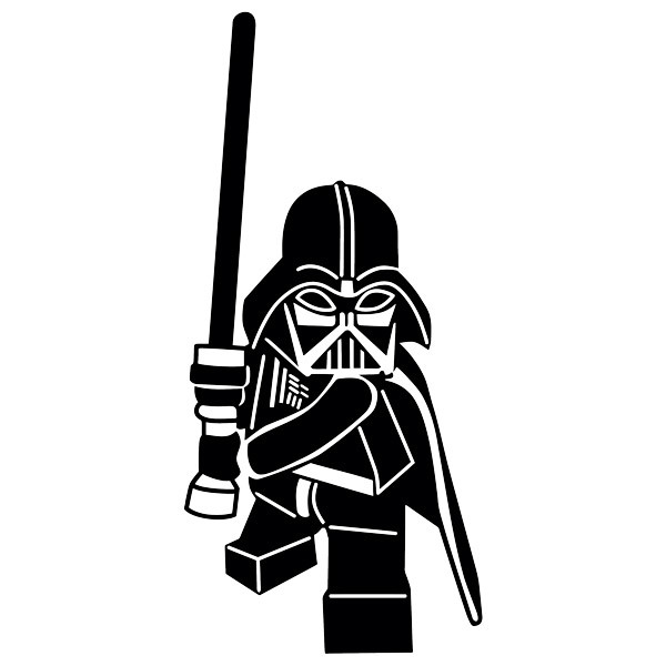 Stickers for Kids: Lego Darth Vader figure