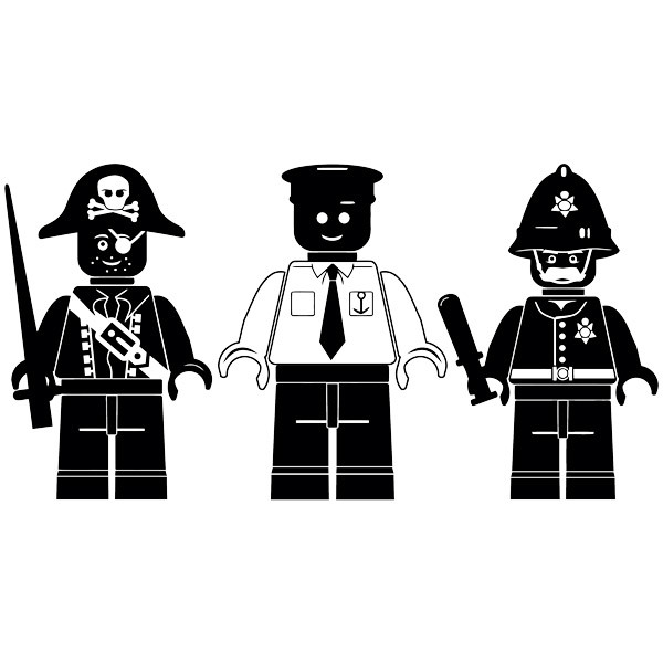 Stickers for Kids: Triptych Lego figures