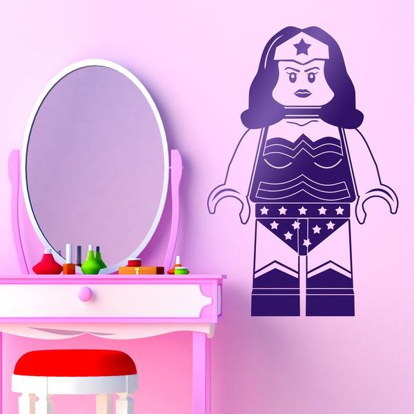 Stickers for Kids: Figure Lego Superwoman