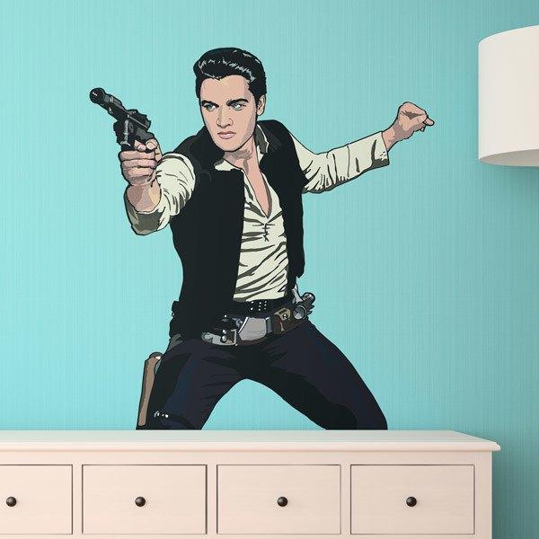 Wall Stickers: Elvis Han Solo