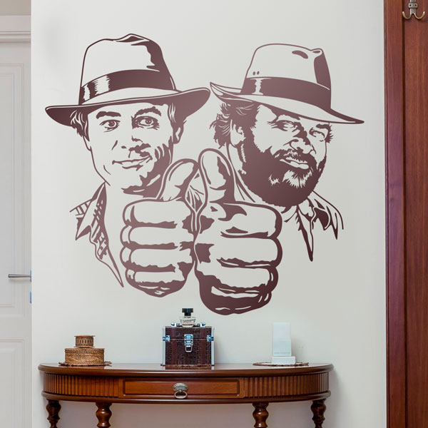 Wall Stickers: Bud Spencer and Terence Hill