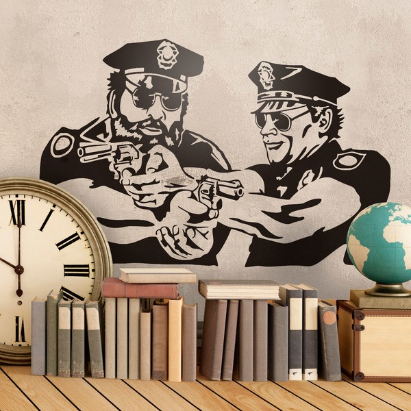 Wall Stickers: Bud Spencer and Terence Hill Police