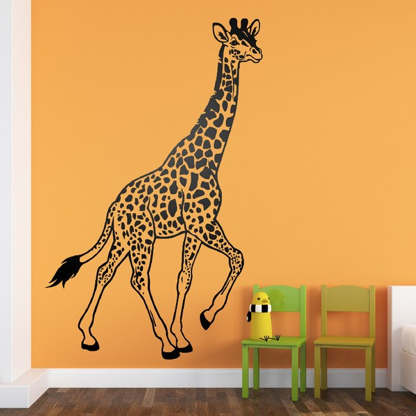 Wall Stickers: Giraffe walking