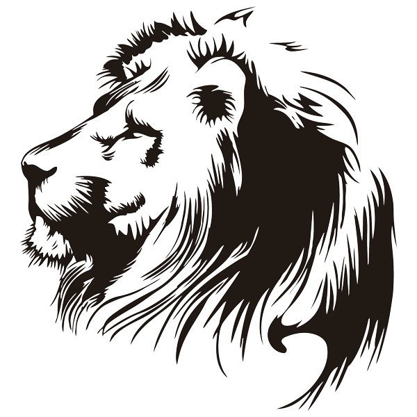 Wall Stickers: Lion s Head